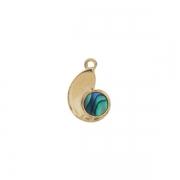 Paua Nautilus Charm - Ariki New Zealand Jewellery