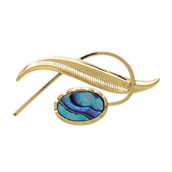 Paua Fern Brooch - Ariki New Zealand Jewellery