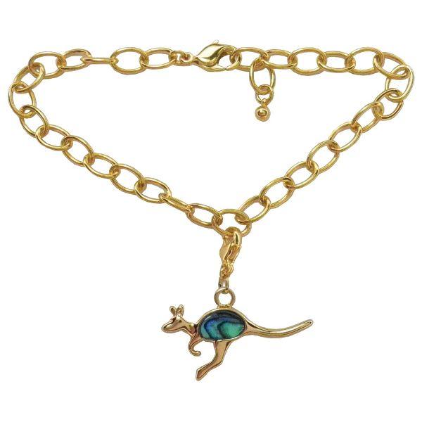 Kangaroo Charm Bracelet - Ariki New Zealand Jewellery