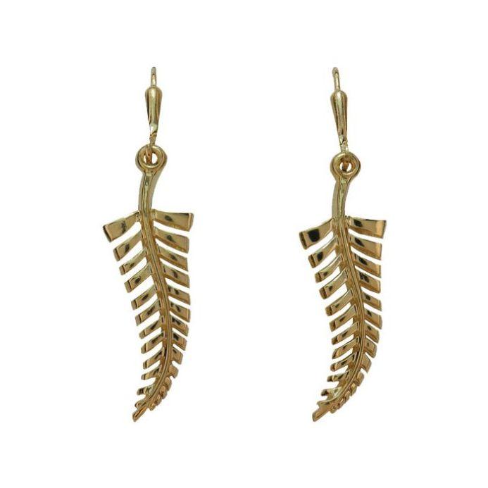 Paua Silver Fern Earrings - Ariki New Zealand Jewellery