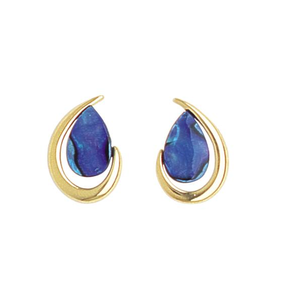 Paua Teardrop Earrings - Ariki New Zealand Jewellery