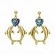 Dolphin Earrings with heart - Ariki New Zealand Jewellery