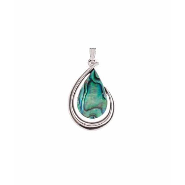 Paua Large Tear Drop Pendant - Ariki New Zealand Jewellery