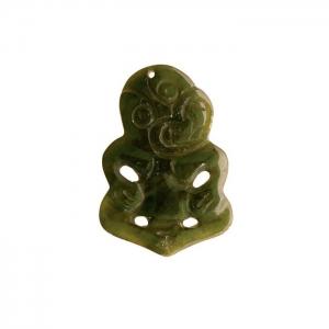 Tiki Jade Pendant