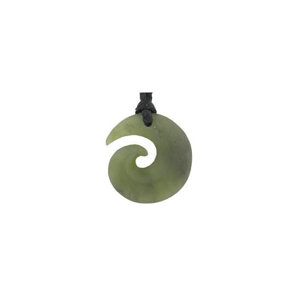 Small Koru Greenstone Pendant - Genuine NZ Greenstone
